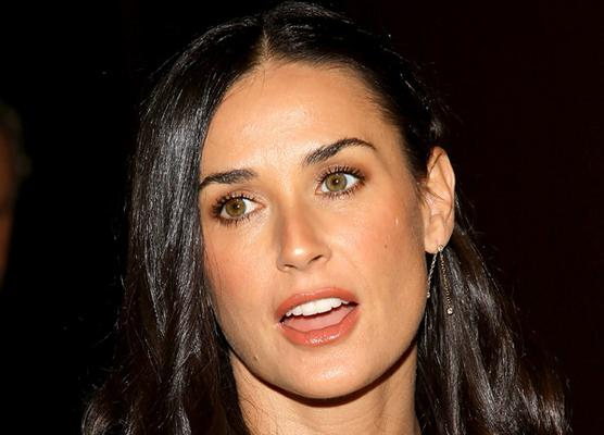 Demi moore fakes question This